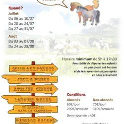 Affiche_LHDC stage_Equitation été 2020