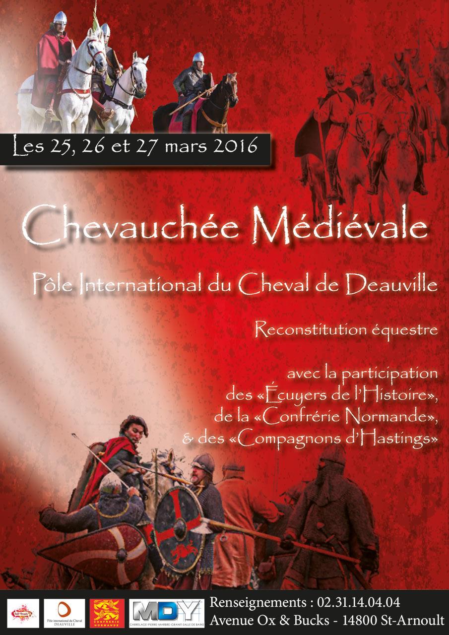 Mdy Pont L Eveque chevauchée médiévale à deauville - lesaboteur